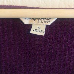 Lucky Brand Tops - Lucky Brand Winterbloom Purple Long Sleeve Thermal
